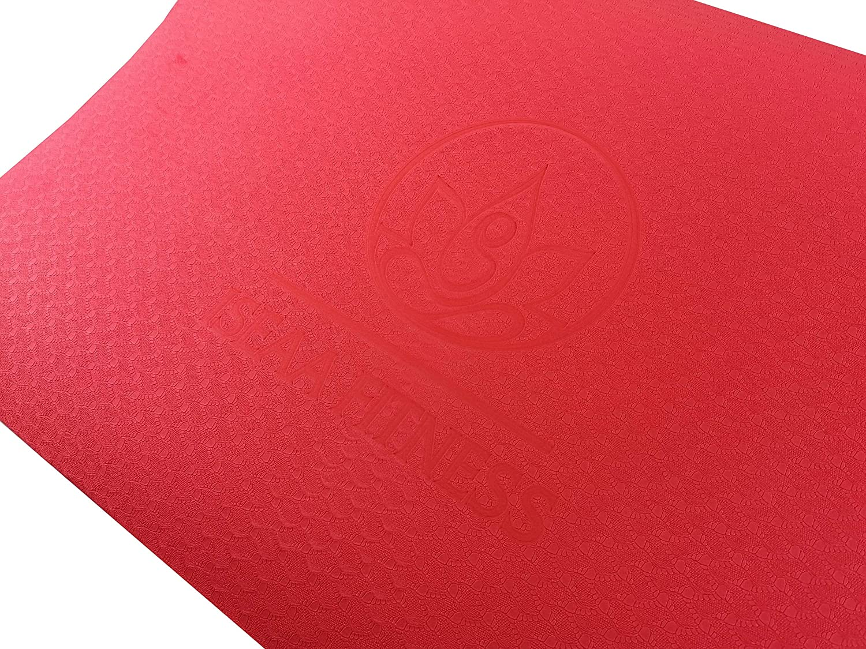 Colori disponibili: inc pilates e fitness 183 x 61 x 0,6 cm Tappetino da yoga antiscivolo TPE in Ver Allenamento yoga. Tappetino da ginnastica di alta qualit/à per yoga
