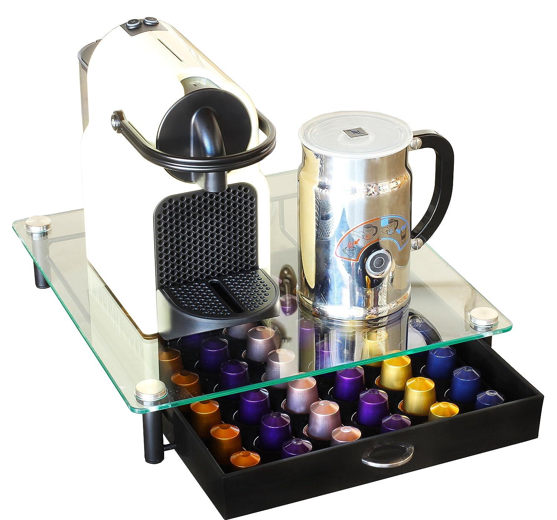 Superbe Amazon.com: DecoBros Crystal Tempered Glass Nespresso OriginalLine Storage  Drawer Holder For Capsules: Kitchen U0026 Dining