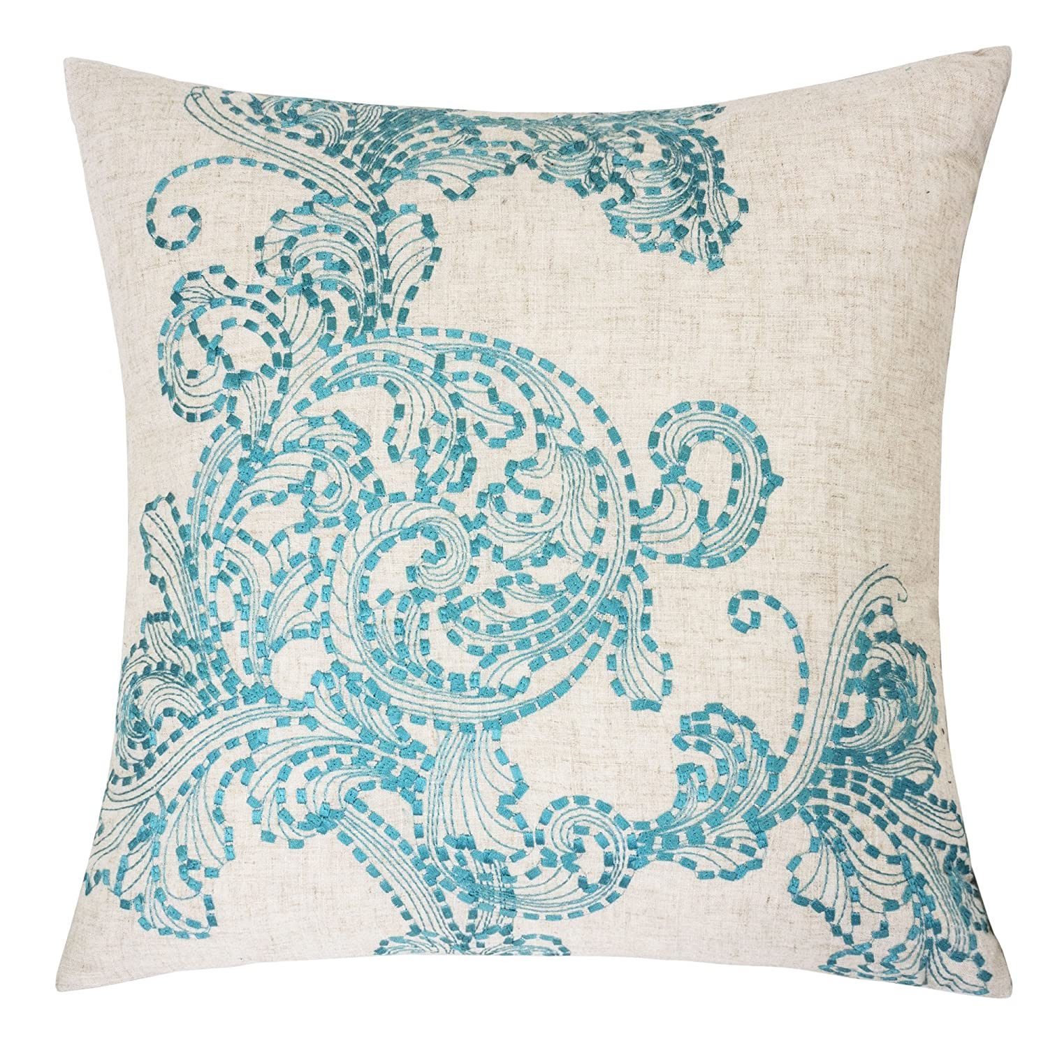 Amazon.com  Homey Cozy Embroidered Linen Throw Pillow Cover ... fc19cef89845