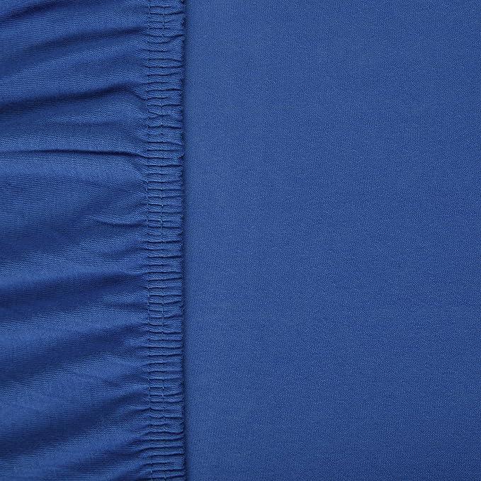 aqua-textil Viana sábana Bajera Ajustable, algodón, Azul Real, 90x200 bis 100x200 cm: Amazon.es: Hogar