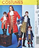 McCall's Costumes Sewing Pattern #M4626 Pirate Costumes for Men & Boys Sizes:XM