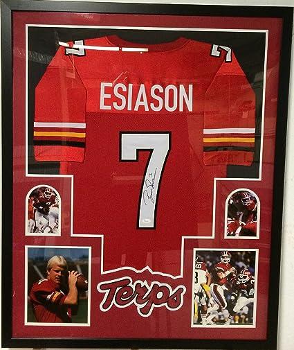 11204907a Boomer Esiason Autographed Custom Framed Maryland Terrapins Jersey ...
