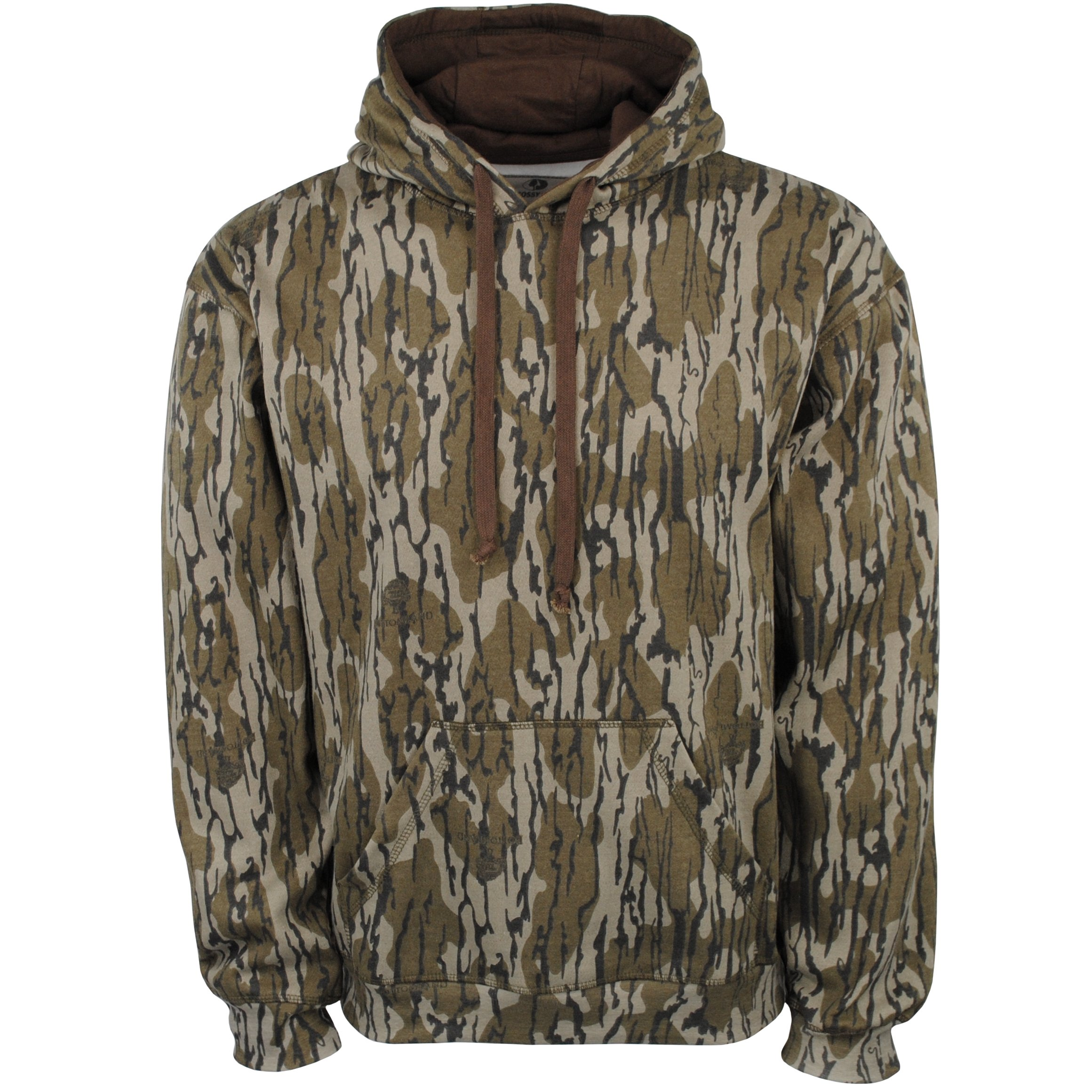 Mossy Oak Men's Vintage Camo Hunt Hoodie, Original Bottomland, Small by Mossy Oak