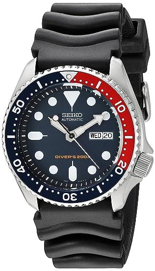 Seiko SKX009K1 - Reloj analógico de caballero automático con correa negra - sumergible a 200 metros: Seiko: Amazon.es: Relojes