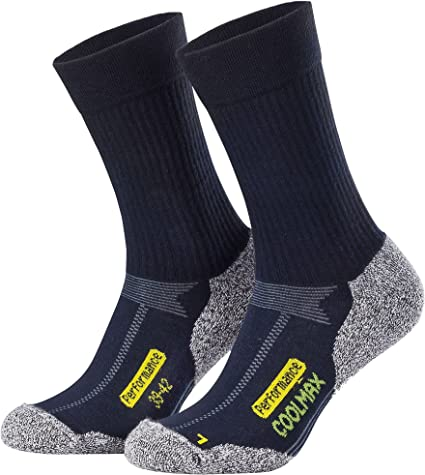 diversi colori 2 paia di calze outdoor hightech con Coolmax Piarini