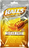 HALLS Sugar-Free Cough Drops, (Honey-Lemon, 25 Drops)