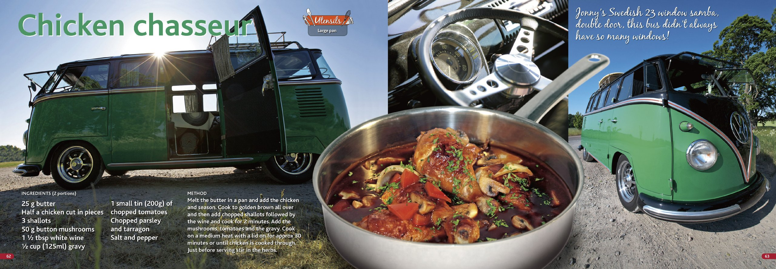 Reviews me and my volkswagen cooking recipes owners features - The Original Vw Camper Cookbook 80 Tasty Recipes Specially Composed For Cooking In A Camper Lennart Hannu Steve Rooker Susanne Rooker 9789163196843