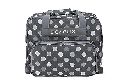 semplix Máquina de coser funda Polka Dots 45 x 34 x 24, | Estable transporte
