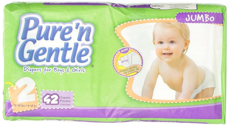 Amazon.com : Pañales Ultra Stretch con Hook & Loop Closure System, Small / Medium Tamaño 2, 12-18 libras, 42 Count Raquetas (paquete de 4) : Baby