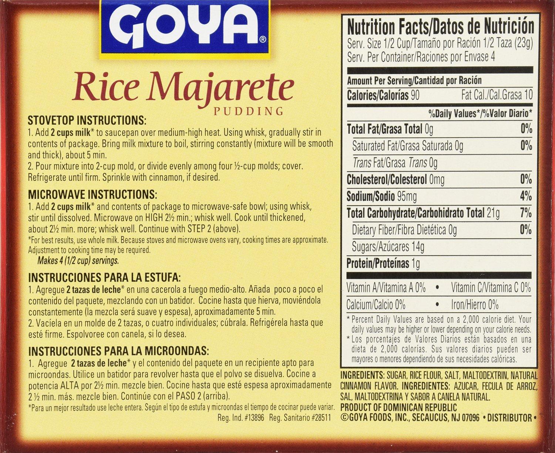 Amazon.com : Goya Majarete De Arroz/Rice Pudding, 3.25-Ounce Units (Pack of 36) : Grocery & Gourmet Food