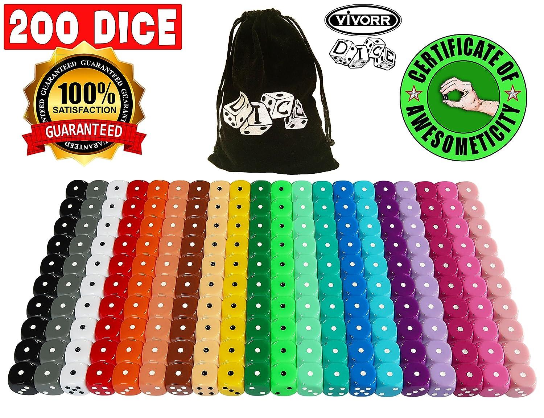 f52744755d1f5 Amazon.com  Vivorr Premium Dice Set of 200 Pieces