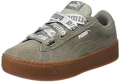 Puma Damen Vikky Platform Ribbon Bold Sneaker, Beige (Peach Beige), 37 EU