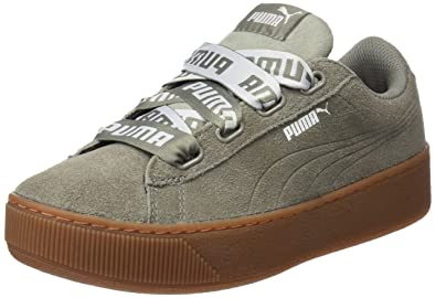 Puma Damen Vikky Platform Ribbon Bold Sneaker Puma Amazonde