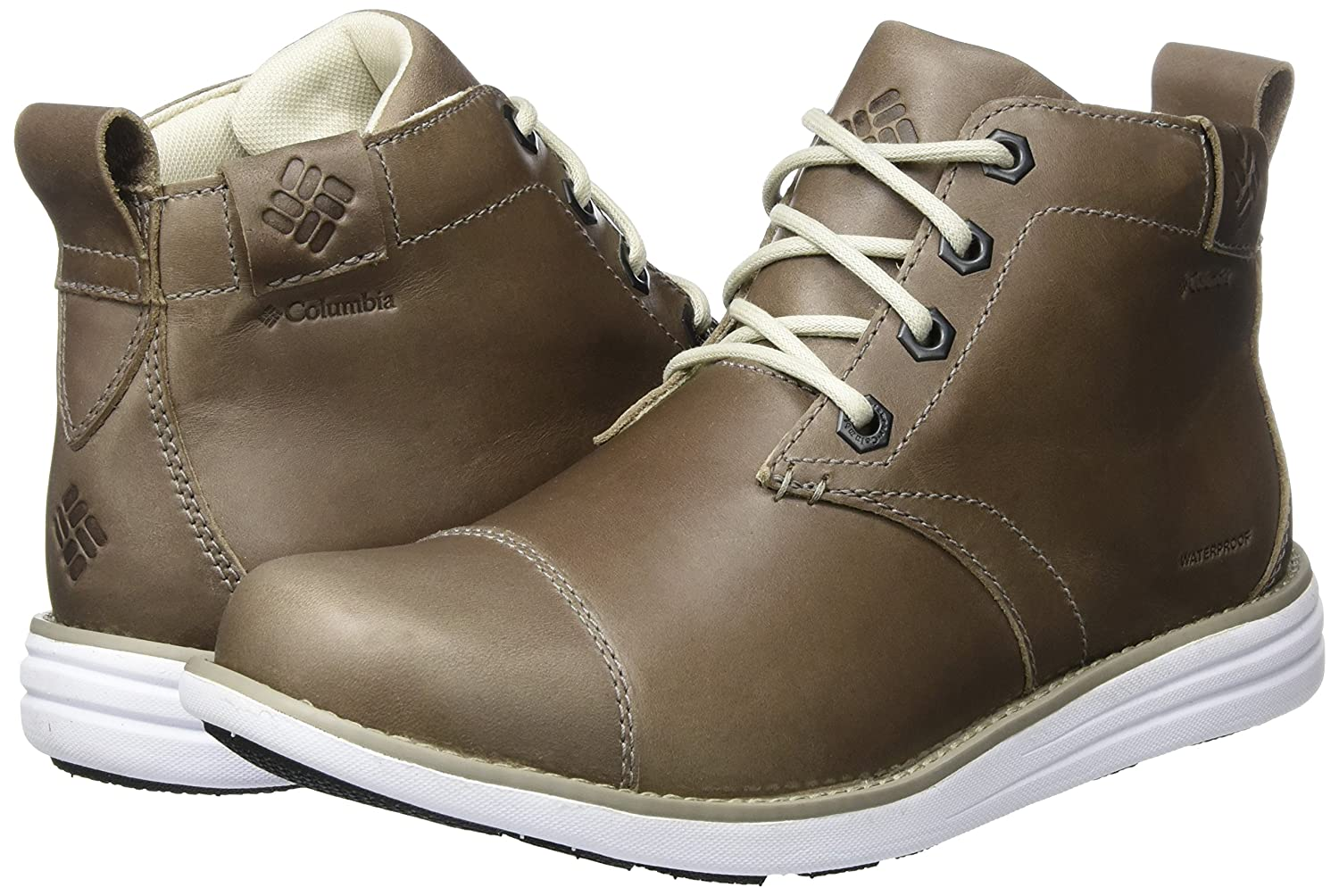 Columbia Irvington LTR WP, Bottes Chukka Homme, Gris (Kettle/White), 47 EU