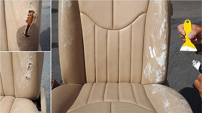 SOFOLK Reparación de Cuero - Pasta de reparación de Grietas, Grietas, Agujeros, cáscaras (Blanco)