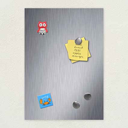 new specials price reduced pretty nice Brushed Stainless Steel Magnetic Notice Memo Board (A1 (594x841))