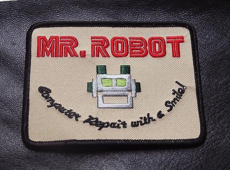 Mr Robot fsociety TV Show disfraz de parche bordado insignia fácil ...