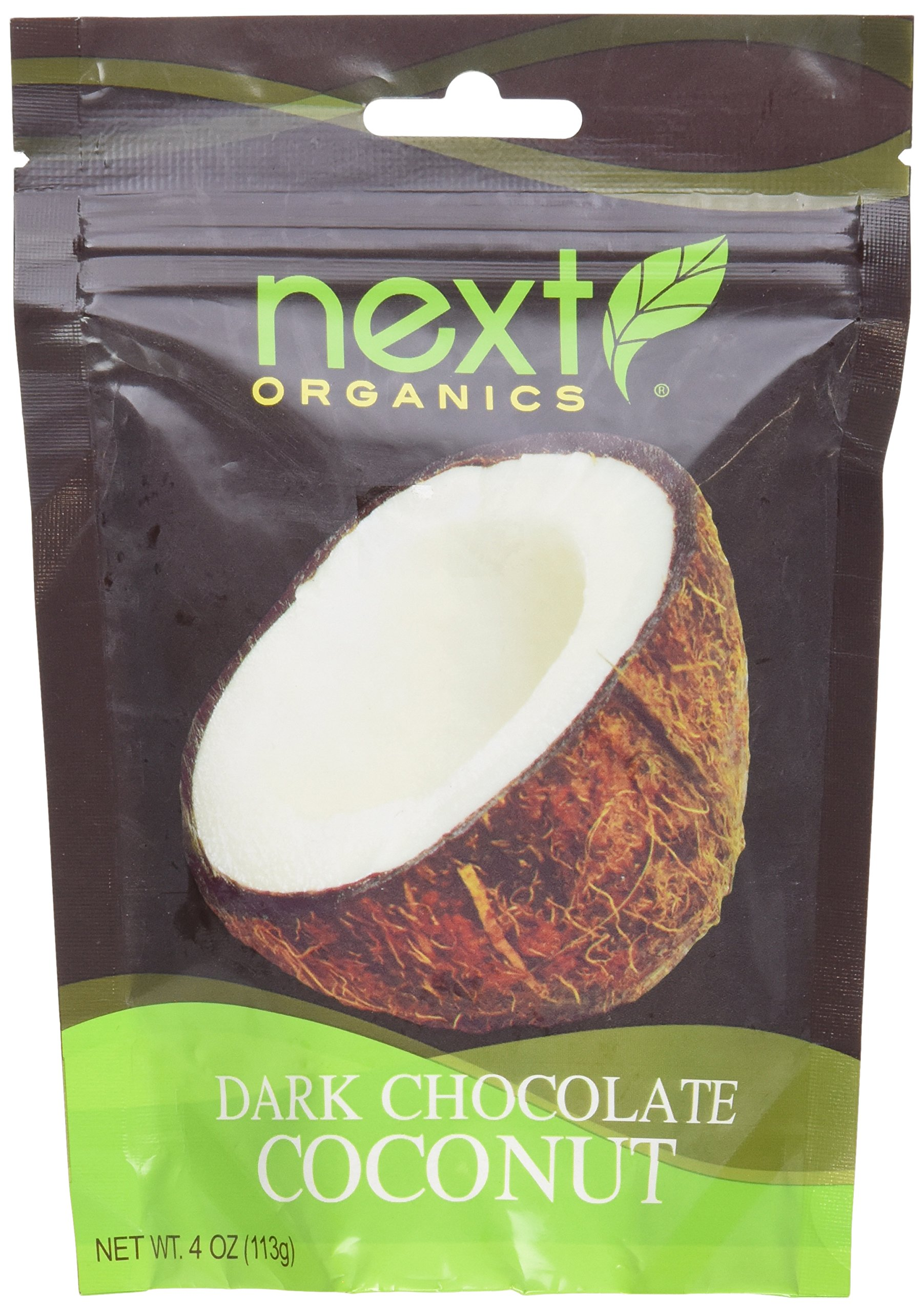 Next Organics Chocolate Covered Fruit Coconut Dark O, 4 oz