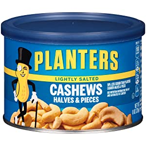 Planters Lightly Salted Cashew Halves & Pieces (8 oz Canister)