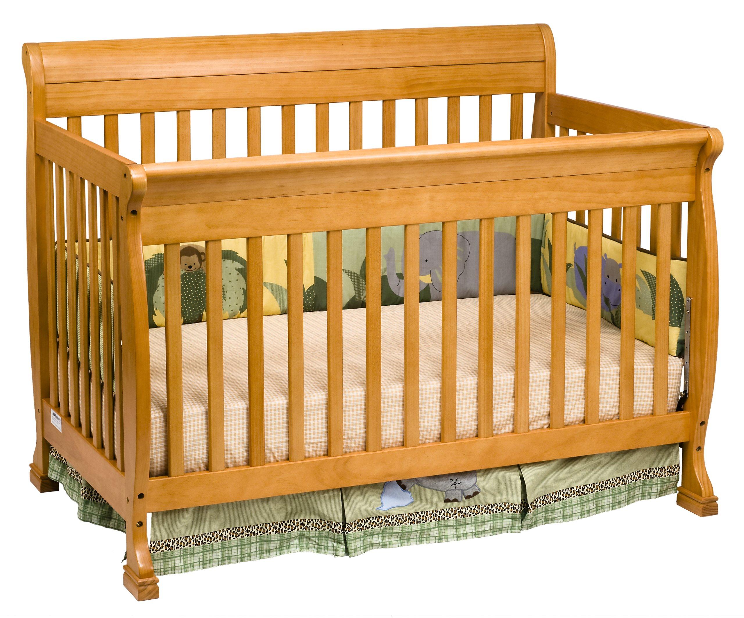 DaVinci Kalani 4-In-1 Convertible Crib, Honey Oak by DaVinci (Image #2)