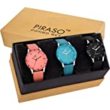PIRASO Fasttrend Analogue Black Dial Girl's Watch- PW3-07