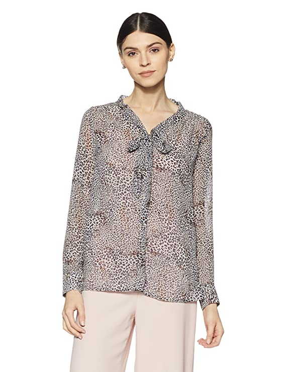 Gas Women's Bow Front Shirt Women's Blouses & Shirts at amazon