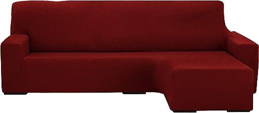 Martina Home Protection canapé avec Chaise Longue élastique Beirut, Rouge, Bras Droit Court de 240 à 280 cm