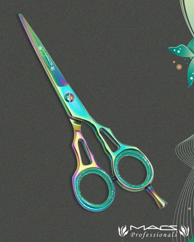 MACS PROFESSIONAL Titanium Barber Razors Edge Hair Cutting Scissors / Shears 6.5 Ergonomic Style-T007 Macs Razor products Macs-T213-Uk27-29-31