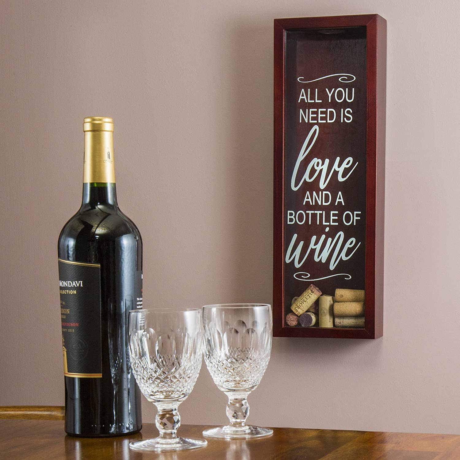 Wine Cork Shadow Box - Holds Over 70 Corks - 18
