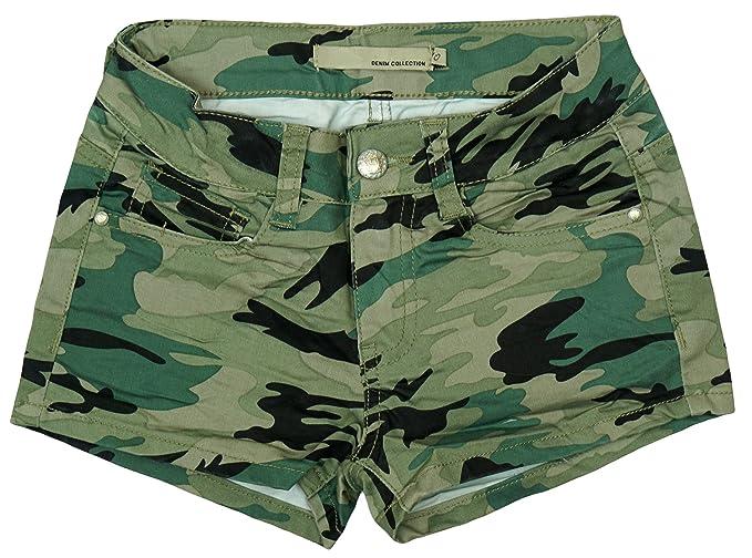 Edefa - Pantalón corto - para niña Multicolor Verde De Color ...