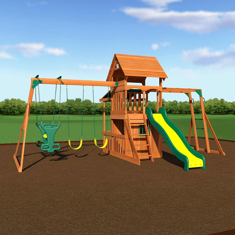 Backyard Discovery Saratoga All Cedar Wood Playset Swing ...