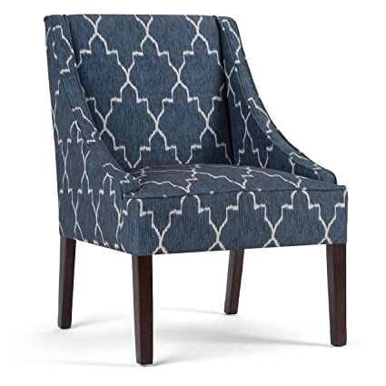 Amazon Simpli Home Hayworth Accent Chair Cobalt Blue Patterned Custom Patterned Chair