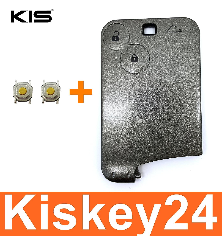 KIS® Repuesto envoltura llave tarjeta código de 2 botones para ...