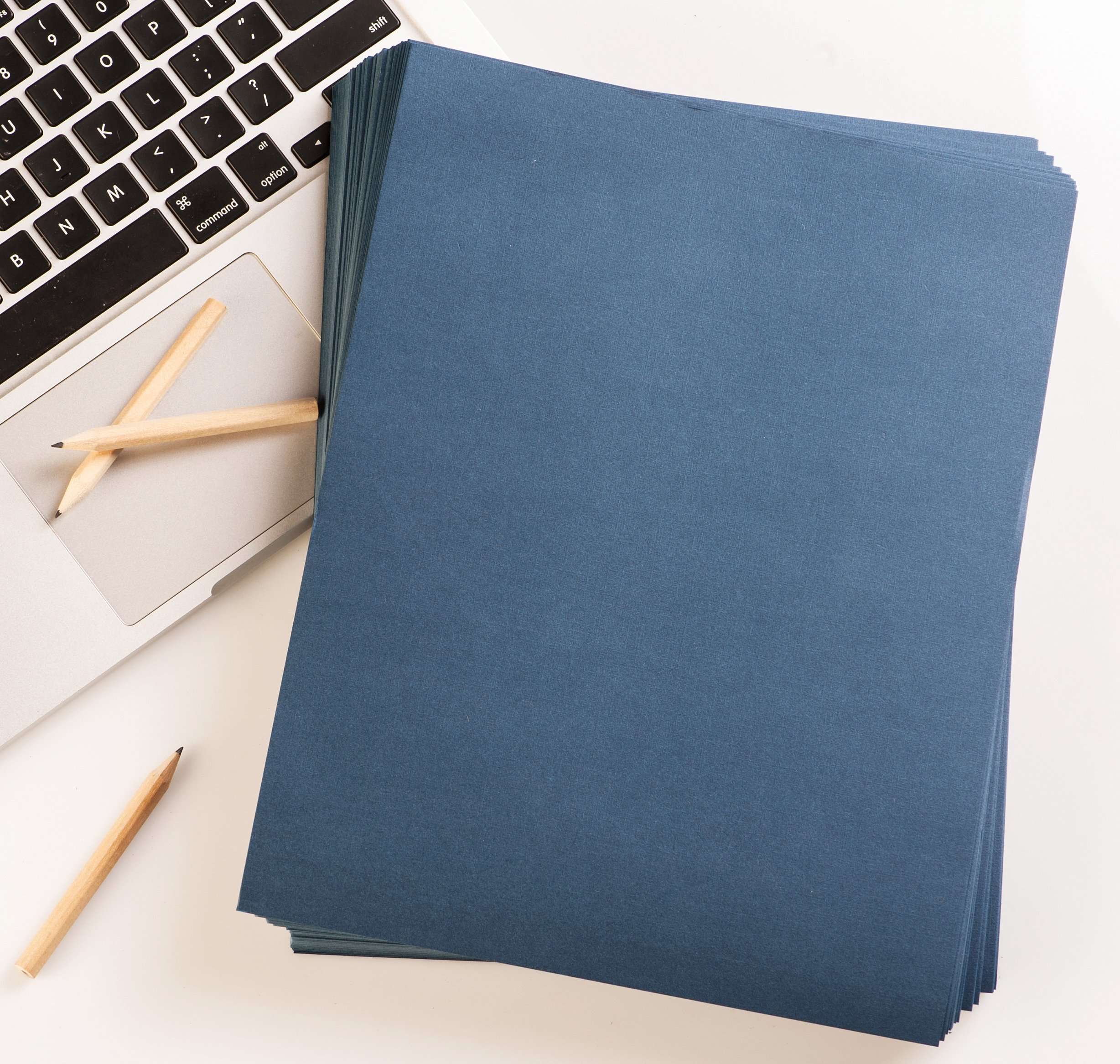 BNC Letter Size Linen Texture Presentation Covers Navy Blue Pack of 100 by BNC Office Supply (Image #6)