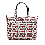 Ju-Ju-Be Hello Kitty Collection Super Be Zippered Tote Diaper Bag, Peek A Bow