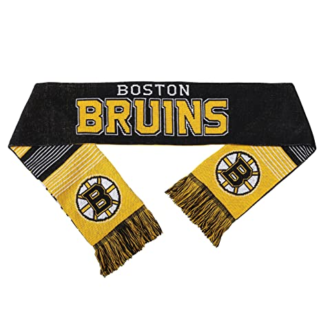 dbc2e9f7 Amazon.com : Boston Bruins Reversible Split Logo Scarf : Sports ...