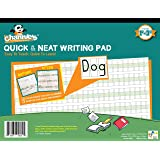 Channie's Quick & Neat Writing Pad, Practice Handwriting & Printing Workbook, 80 Pages Front & Back, 40 Sheets, Grades…