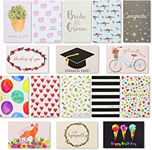 All Occasions Blank Greeting Cards with Envelopes, 48 Designs(4 x 6 in, 144 Cards)
