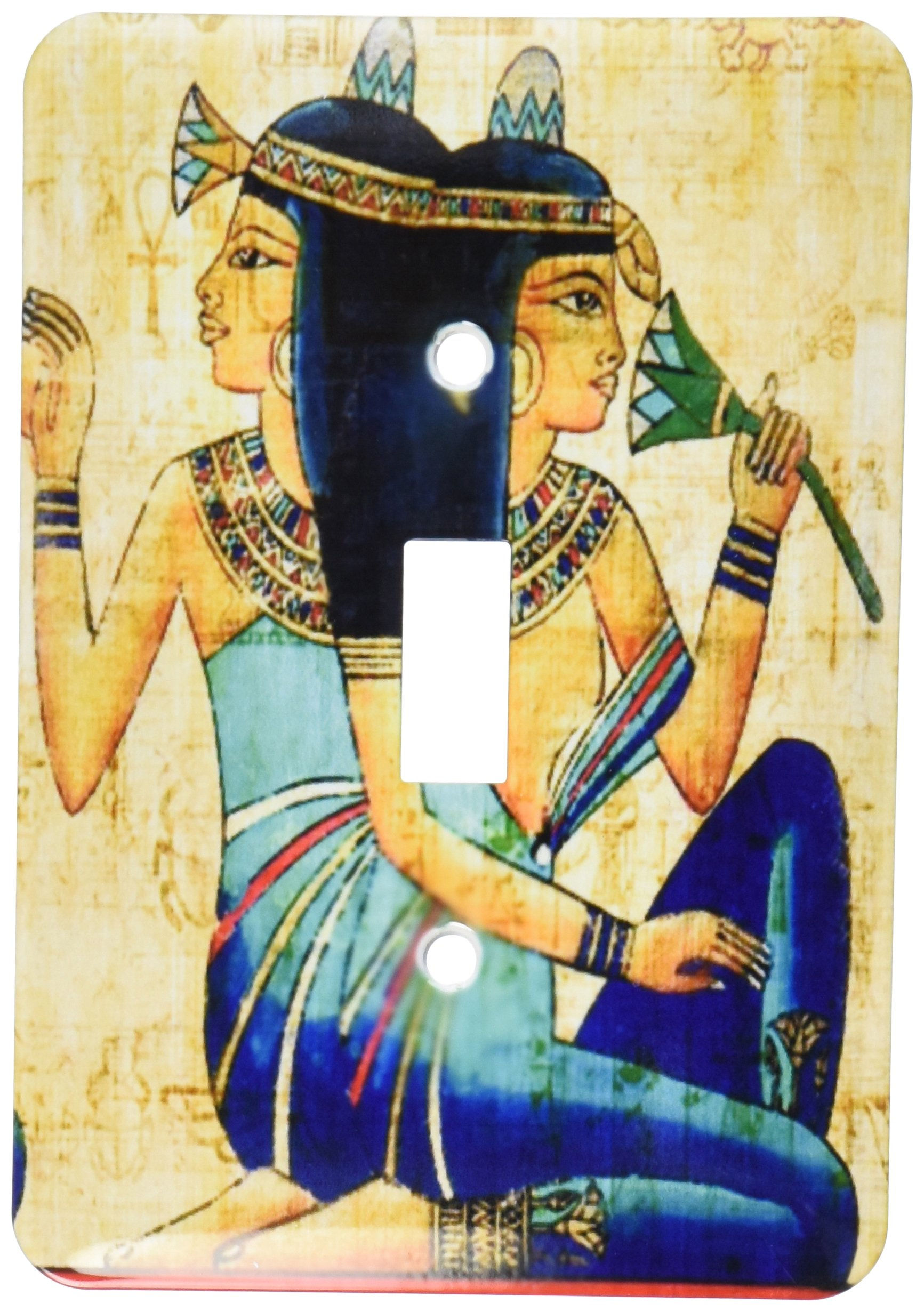 3dRose LLC lsp_119558_1 Egyptian Ladies On Papyrus Paper Single Toggle Switch