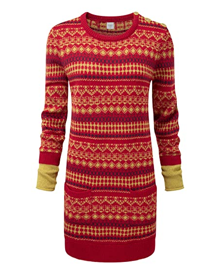 Cotton Traders Womens Ladies Fair Isle Mock Sleeve Jacquard Tunic ...