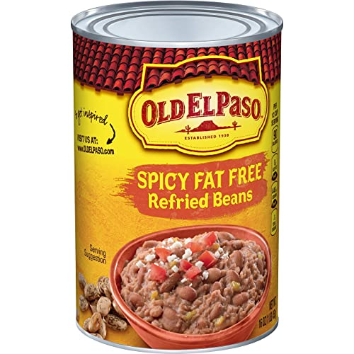 Old El Paso Refried Spicy Beans, Fat Free, 16 uncji