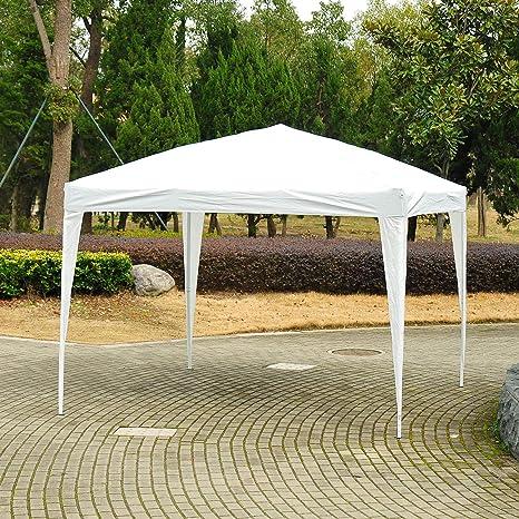 Outsunny - Carpa de 3 x 3 m para jardín, Resistente, con Bolsa de Transporte, Color Blanco: Amazon.es: Jardín
