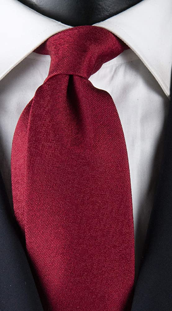 Corbata hombre rojo burdeos con fantasía tono sobre tono exclusivo ...