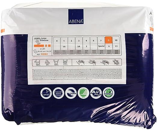 Amazon.com: Abena Abri-San Premium Incontinence Pads, Size 8 - Maxi, 21 Count: Health & Personal Care