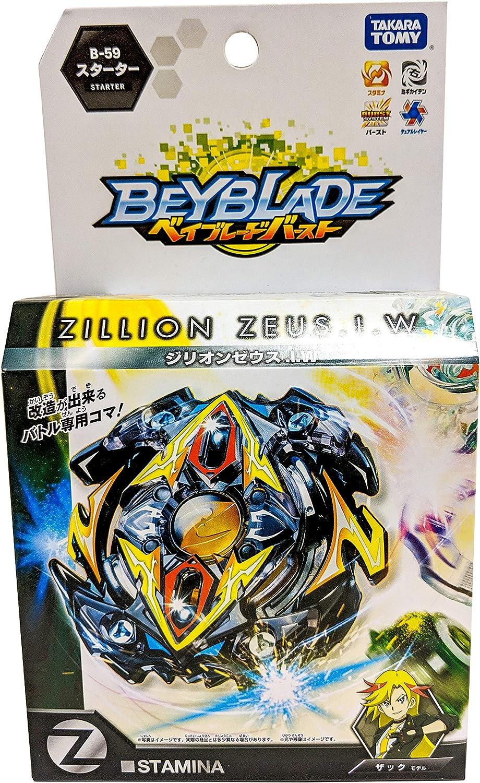Beyblade Burst B-59 Booster Zillion Zeus Com Espada Lançador Pião i.w