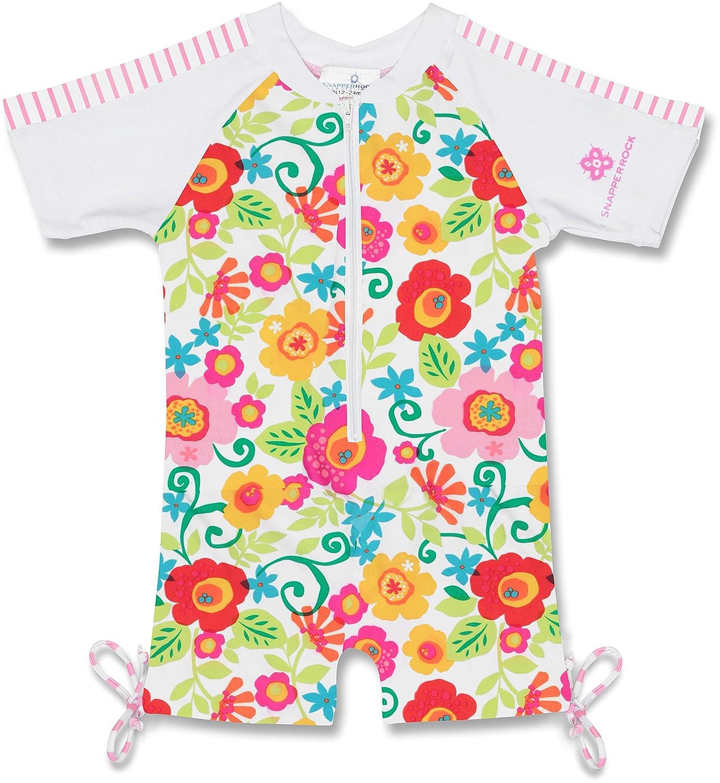 Snapper Rock Baby Girls Zippered One Piece Short Sleeve Sun Suit Multi 0 6 Months 744-00