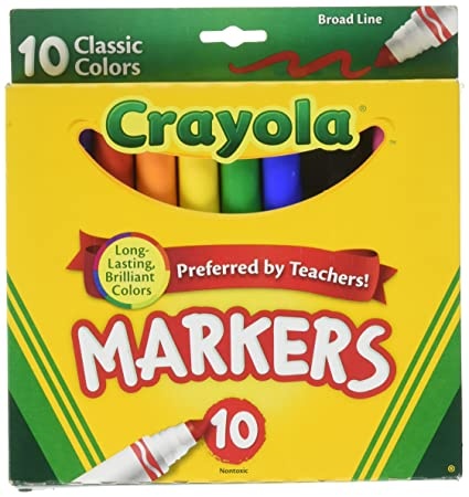Amazoncom Crayola Original Markers Classic Colors NonToxic
