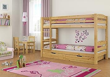 Etagenbett Holz Günstig : Erst holz® etagenbett kiefer massivholz natur 90x200 stockbett