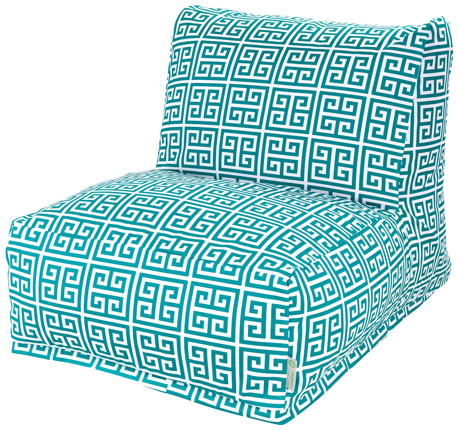 Majestic Home Goods Pacific Towers Bean Bag Chair Lounger, Turquoise