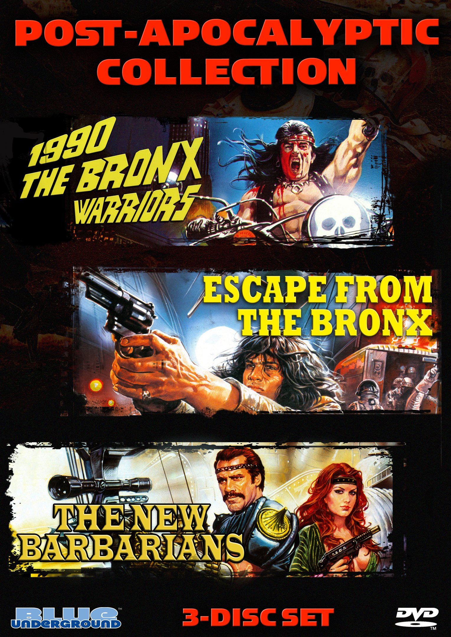 Post-Apocalyptic Collection (3-Disc DVD Set) (1990: The Bronx Warriors / Escape From The Bronx / The New Barbarians)
